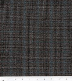Fashion Suitings-Black & Brown Plaid FabricFashion Suitings-Black & Brown Plaid Fabric,