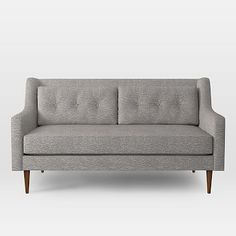 """Crosby Sofa, 68"""" Loveseat, Deco Weave, Feather Gray"""