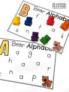 Bear Alphabet Letter Find!!! - Morning Tubs: Bears