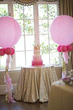 Pastel Princess themed birthday party Full of Really Cute Ideas via Kara's Party Ideas: The Royal Cake