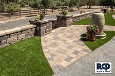 Country Manor Landscape Wall Landscaping Retaining Walls, Outdoor Decor, Wall Installation, Hardscape, Garden Wall, Wall, Landscape Walls, Wall Systems, Free Standing Wall