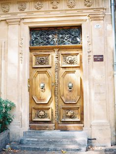 Detailed Wood Doors in Aix en Provence | photography by http://www.lesecretdaudrey.com