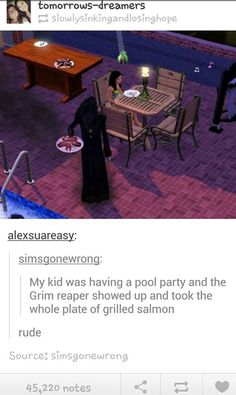 The Sims - grims' gotta eat too