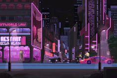 gif gaming movies pixel art cyberpunk pixel animation