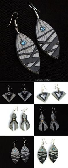 """These earrnings are based on the Asari (Mass Effect) clothing as portayed in """"The Art of Mass Effect"""" book. This is totally Spicyshimmy's fauilt, she mentioned """"Liara collection of Asari earrings"""" ..."""
