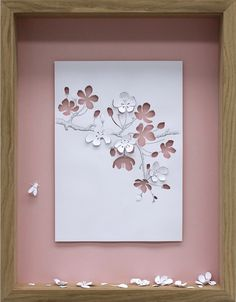 Apple Blossom, 2005 // Framed A4 paper cut | Peter Callesen
