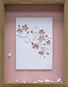 Apple Blossom, 2005// Framed A4 paper cut | Peter Callesen