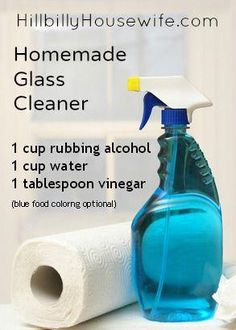 Natural DIY Homemade Glass Cleaner that actually works. This cheap glass and window cleaner won't leave streaks and will make your windows sparkle. Homemade Cleaning Supplies, Diy Home Cleaning, Household Cleaning Tips, Cleaning Recipes, House Cleaning Tips, Deep Cleaning, Cleaning Hacks, Diy Hacks, Household Cleaners