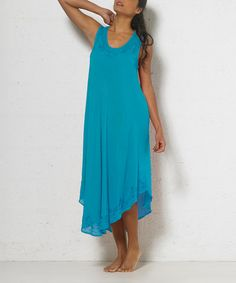 Another great find on #zulily! Turquoise Embroidered Maxi Dress - Women #zulilyfinds