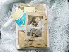 paperink id: foundpaper500 Mixed Media Paper Pack Sewing Pattern Paper Seam Binding 1885 Knitting Girls Papercut Fiber Art Kit Supplies Collage Artist Art Little Patient Quantity: 7 pieces (you will r