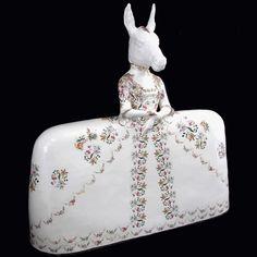 Donkeyskin - 2011 | Earthenware, Glaze, Enamel, Luster - Claire Partington