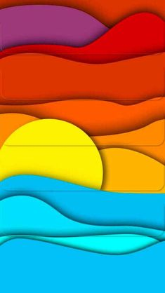 Solve Sunset jigsaw puzzle online with 112 pieces Colorful Art, Art Painting, Stained Glass Patterns, Glass Painting, Art, Surf Art, Abstract, Canvas Painting, Paper Art