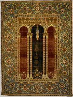 16th century ottoman court prayer rug