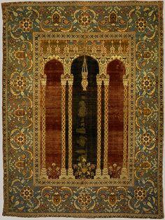 16th century ottoman court prayer rug Persian Carpet, Persian Rug, Textiles, Art Chinois, Turkish Art, Turkish Rugs, Turkish Design, Art Japonais, Magic Carpet