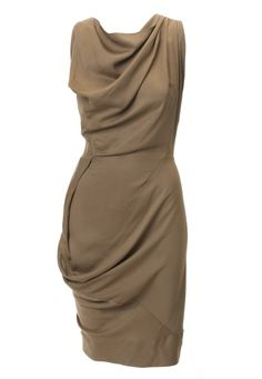 Love the draping on this Vivienne Westwood dress - I'd pair this with a bright shoe to take on the brights with neutrals trend