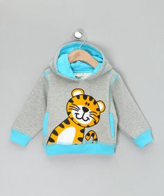 Take a look at this Grey Tiger Hoodie by WW Group on #zulily today!