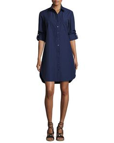 Alex+Long-Sleeve+Shirtdress++by+Finley+at+Neiman+Marcus.