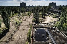 Pripyat, Ukraine  Site of the infamous Chernobyl incident, the entire city had to be abandoned in 1986 due to nuclear radiation.  I'm very intrigued by this place!!