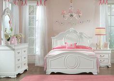 Jessica 6 Pc. Full Bedroom. Girls Bedroom Furniture ...