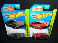 Hot Wheels 2015 Lamborghini Veneno and Ferrari 599XX HW Workshop Thrill Racers #HotWheels