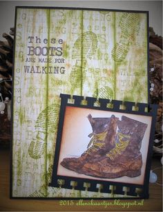 Ellen's kaartjes: AJC one sheet or two single stamps First Art, Masculine Cards, Mixed Media Art, I Card, Stampin Up, Journey, Scrapbook, Frame, Artwork
