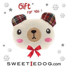 cadeau chien jouet chien sweetie dog plush peluche ourson nounours bear gift sweetie dog yummy kawaï www.sweetiedog.com