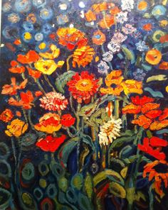 """Canada Blooms 18""""x 24"""" oil on panel 2013 SOLD"""