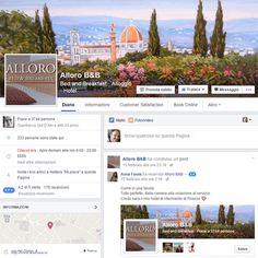#CasoModello: la pagina Facebook dell'Alloro B&B, con tanto di applicazione per prenotare direttamente