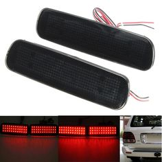2Pcs Car Fog Red Lens Rear Bumper Reflector Tail Brake SMD LED Light Fog For Lexus LX470 Night Driving Run Brake Stop Lamp - $24.99