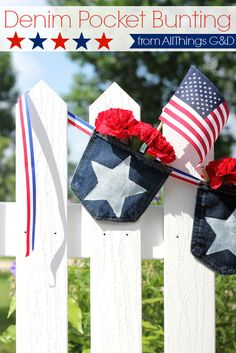 Patriotic Denim Pocket Bunting 2019 patriotic denim pocket bunting crafts outdoor living patriotic decor ideas repurposing upcycling seasonal holiday decor The post Patriotic Denim Pocket Bunting 2019 appeared first on Denim Diy. Fourth Of July, 4th Of July Wreath, Sewing Projects, Projects To Try, Sewing Ideas, Patriotic Decorations, Patriotic Crafts, Americana Crafts, Patriotic Wreath