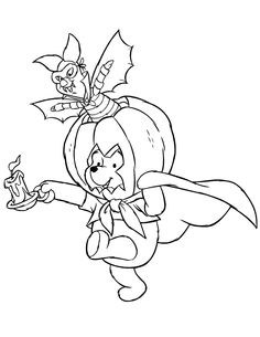 Very cool Tinkerbell as a Goth Halloween colouring page