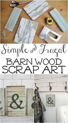 DIY Barn Wood Scrap Art – Simple, Simple and Free Art ! Barn Wood Crafts, Reclaimed Wood Projects, Scrap Wood Projects, Easy Woodworking Projects, Diy Pallet Projects, Pallet Ideas, Woodworking Furniture, Recycled Wood, Woodworking Plans