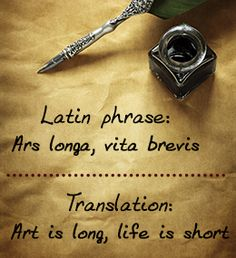 Latin phrases about love and life
