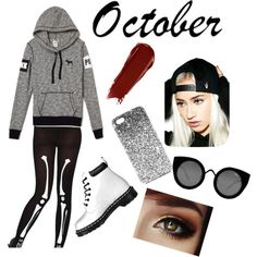 Halloween Outfit #3 by treppenwits on Polyvore featuring polyvore, fashion, style, Dr. Martens, Quay, Creep Street, Topshop and NARS Cosmetics