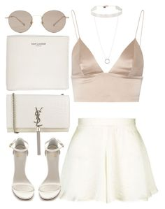 """Untitled #3970"" by amyn99 ❤ liked on Polyvore featuring T By Alexander Wang, Topshop, Stuart Weitzman, Yves Saint Laurent, Gucci, Jennifer Fisher and NightOut"
