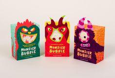Best Packaging Inspiration Kids Monsters images on Designspiration Kids Packaging, Fruit Packaging, Food Packaging Design, Cute Packaging, Packaging Design Inspiration, Popcorn Packaging, Box Design, Illustration, Bubble