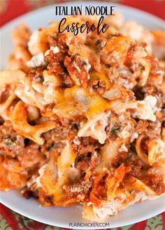 Italian Noodle CasseroleReally nice recipes. Every hour.Show me  Mein Blog: Alles rund um die Themen Genuss & Geschmack  Kochen Backen Braten Vorspeisen Hauptgerichte und Desserts # Hashtag