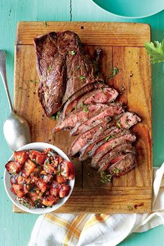 Fresh Tomato Recipes: Grilled Flat Iron Steak with Charred Tomato Relish