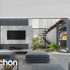 Modern living room by archon+ projekty domów modern Modern Bungalow House, Kitchen Units, Modern Living, Home And Family, Living Room, Interior Design, Single Family, Dining, Top