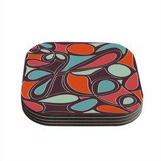 "Miranda Mol ""Retro Swirl"" Coasters (Set of 4) from KESS InHouse"