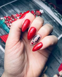Christmas Gel Nails, Holiday Nails, Christmas Nail Designs, Gorgeous Nails, Pretty Nails, Nagellack Design, Nails Polish, Minimalist Nails, Best Acrylic Nails