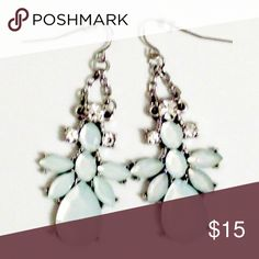 Iridescent Pale Green Chandelier Earrings NWOT. Never worn. Jewelry Earrings