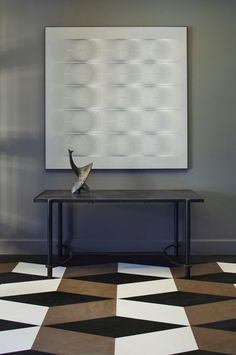 Patterned floor.