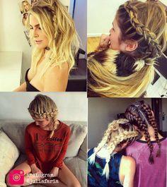 Julia Faria e os muitos penteados bagunçados mais lindos da vida.