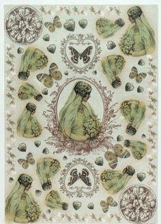 Rice Paper for Decoupage Decopatch Scrapbook Craft Sheet Vintage Beautiful Bride