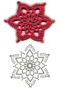 Wonderful DIY Crochet Snowflakes With Pattern - Her Crochet Crochet Star Patterns, Crochet Snowflake Pattern, Crochet Stars, Crochet Snowflakes, Crochet Designs, Knitting Patterns, Crochet Diagram, Crochet Motif, Crochet Doilies