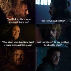 Ned and Jon parallels Winter Is Here, Winter Is Coming, Sansa Stark, Game Of Thrones Meme, The Winds Of Winter, The Longest Night, I Cant Do This, Got Memes, I Don T Know