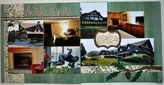 Julie Leonhardt @M Memories - double scrapbook layout