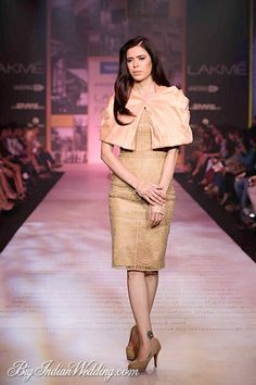 Shantanu Nikhil cocktail dress with butterfly cape