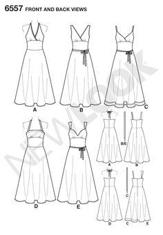 Womens Dresses Pattern 6557 New Look Patterns